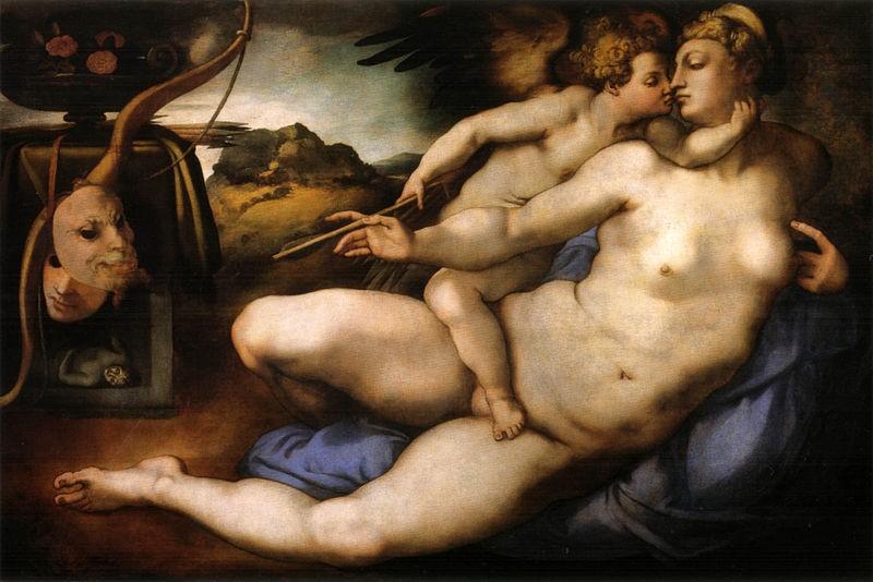 «Венера и Амур» Микеланджело и Понтормо. Галерея Академии Изящных Искусств. Флоренция