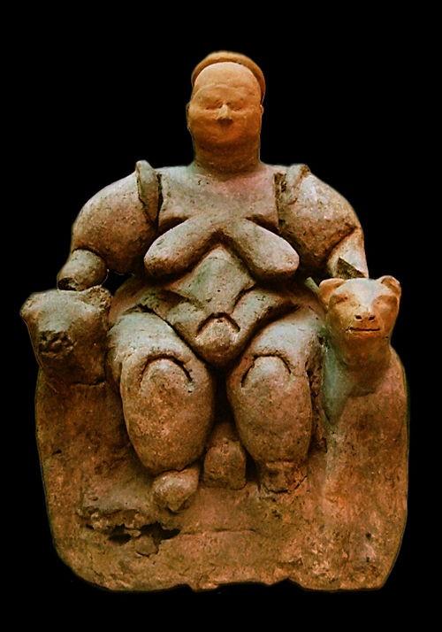 Статуэтка Великой Богини из Чатал-Хуюк. 7500 г. до н.э.
