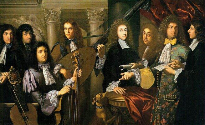 Принц Фердинанд (в зеленом камзоле) со своим придворным оркестром