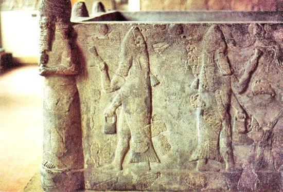 Саркофаг жреца Бога Оанна Иракский Национальный археологический музей