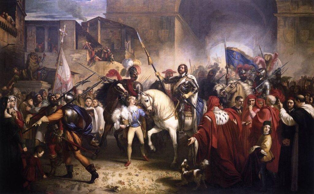 «Вход Карла VIII во Флоренцию» Джузеппе Беццуоли. Галерея Современного Искусства. Флоренция