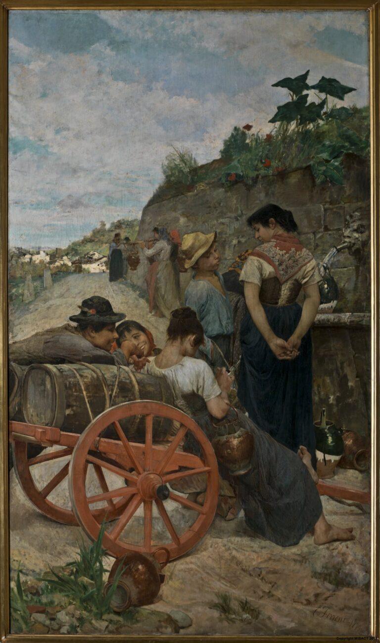 «У фонтана» Эджисто Феррони. Галерея Современного Искусства. Флоренция