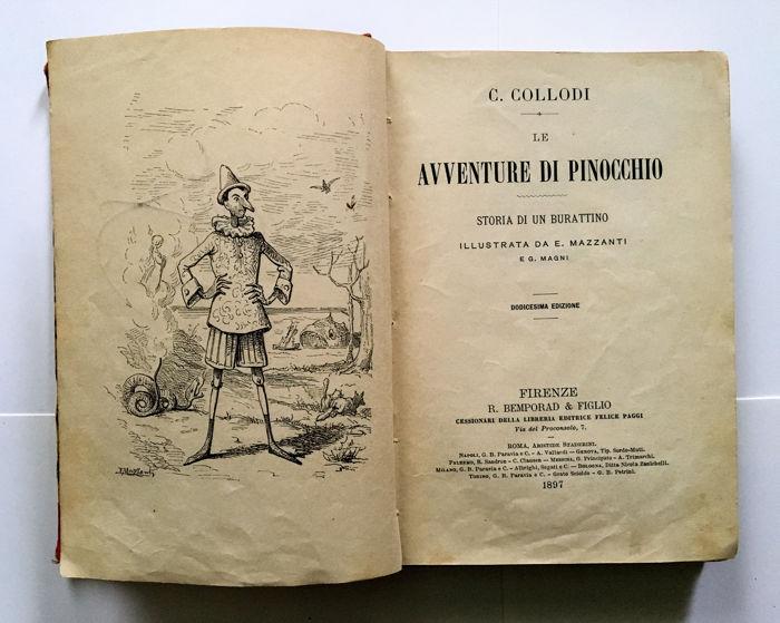 «Приключения Пиноккио» - одно из первых изданий произведения Карло Коллоди