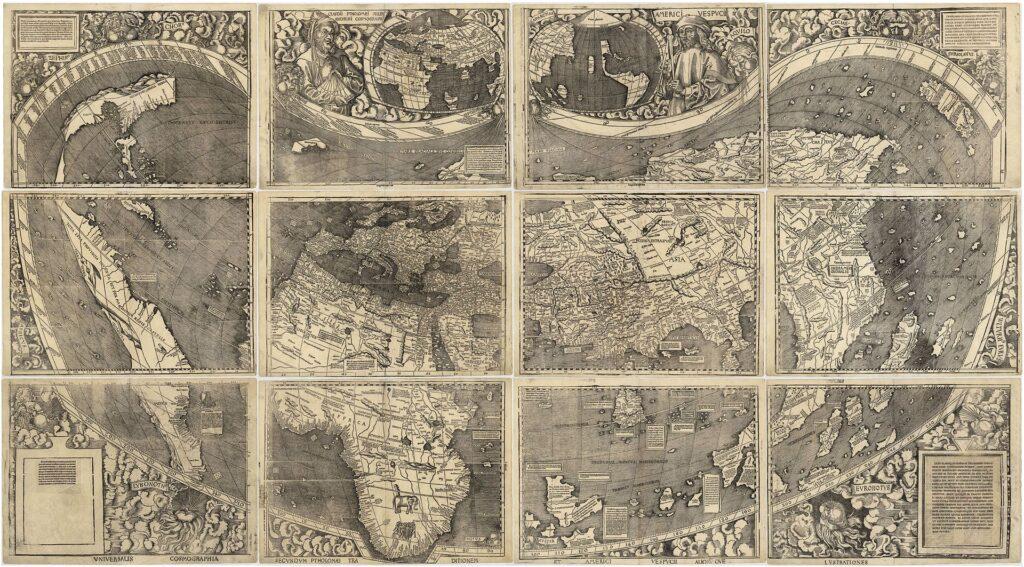 Карта Мартина Вальдземюллер 1507 год