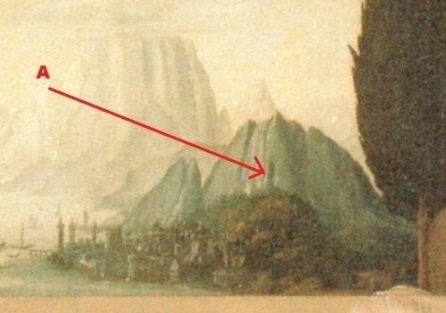 «Благовещенье» (деталь) Леонардо да Винчи. Галерея Уффици, Флоренция