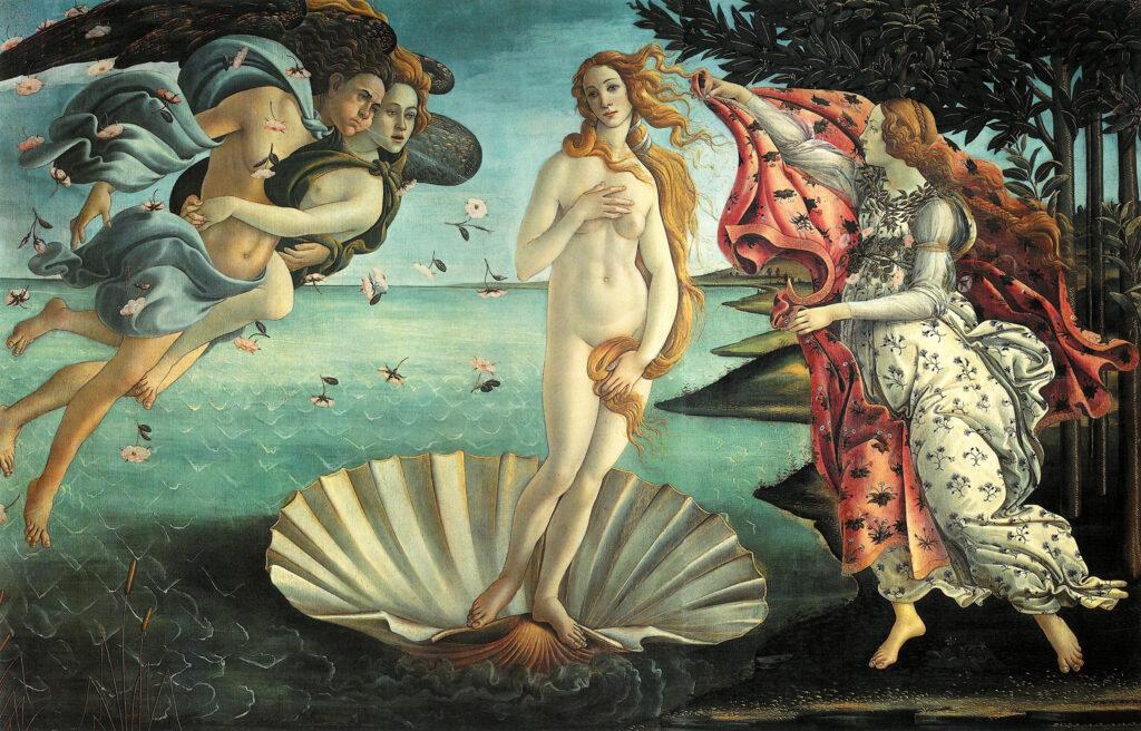 «Рождение Венеры» Сандро Боттичелли. Галерея Уффици, Флоренция