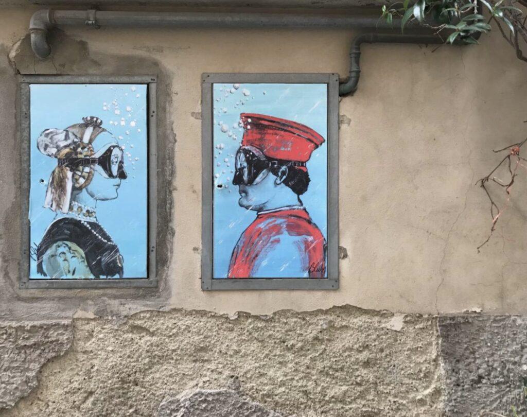 «Искусство умеет плавать» BLAB. Street Art Флоренция