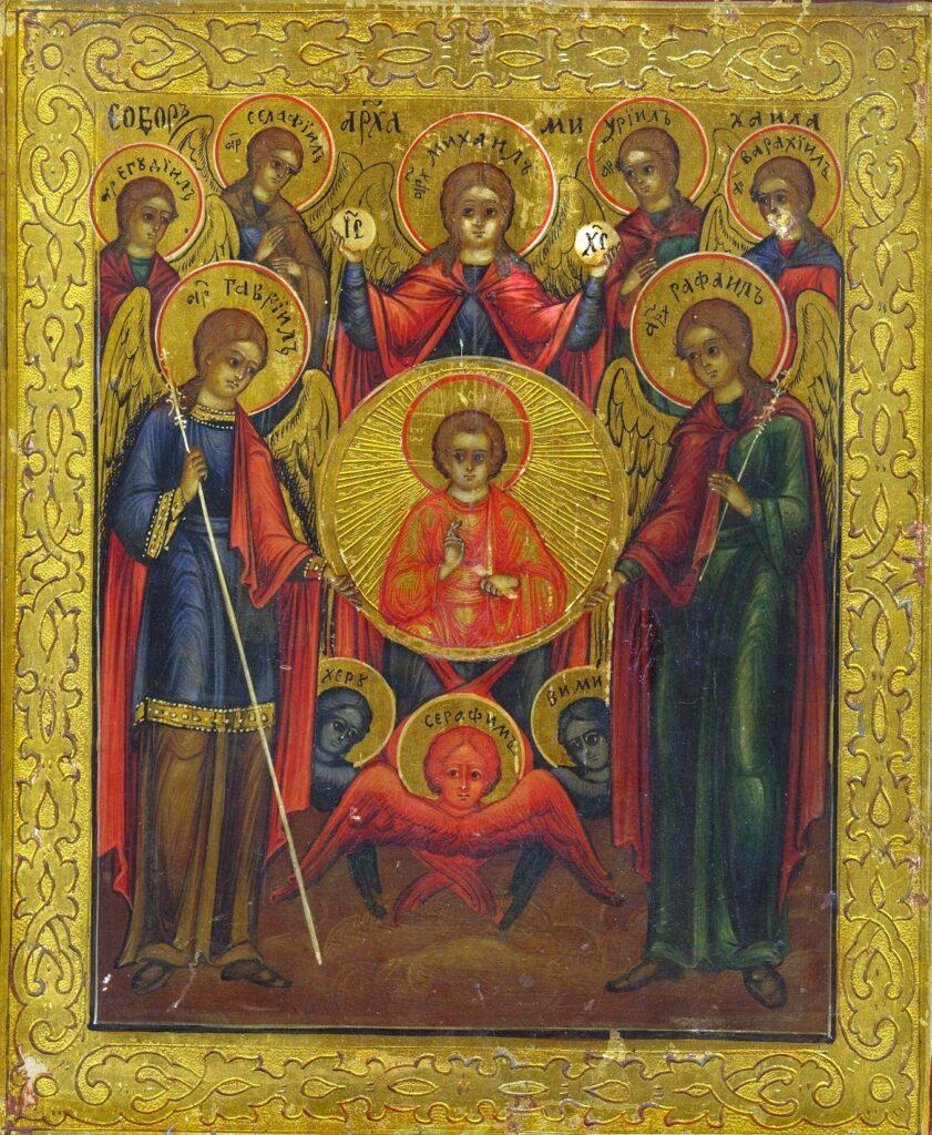 Православная икона семи Архангелов. Собор Архистратига Михаила