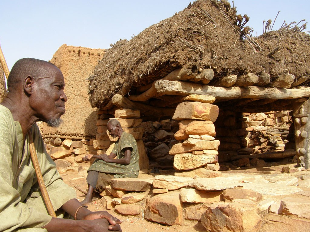 Африканский народ Догонов на юго-востоке Мали