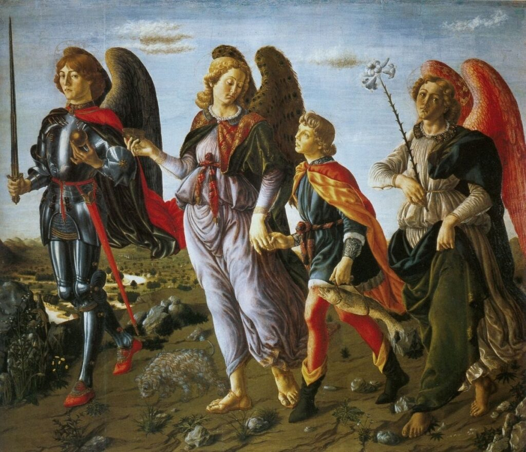 «Три Архангела» Франческо Боттичини. Галерея Уффици, Флоренция