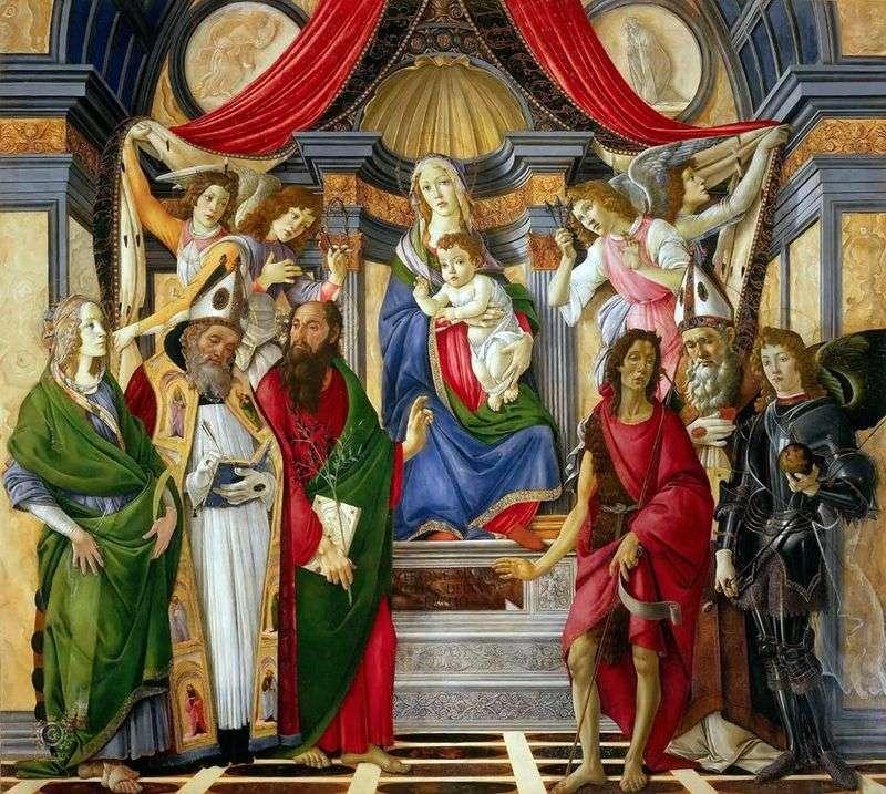 «Алтарь Святого Варнавы» Сандро Боттичелли. Галерея Уффици, Флоренция