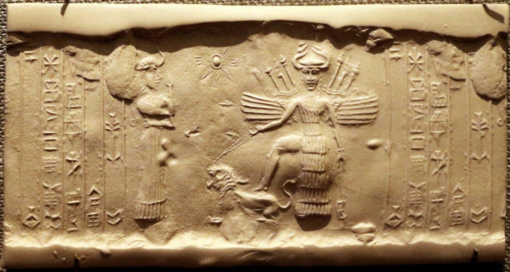 Богиня Инанна. Месопотамия 2300 г. до н.э.