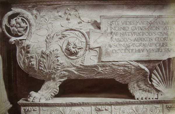 Саркофаг Карла Марзупини в Базилике Санта Кроче. Флоренция