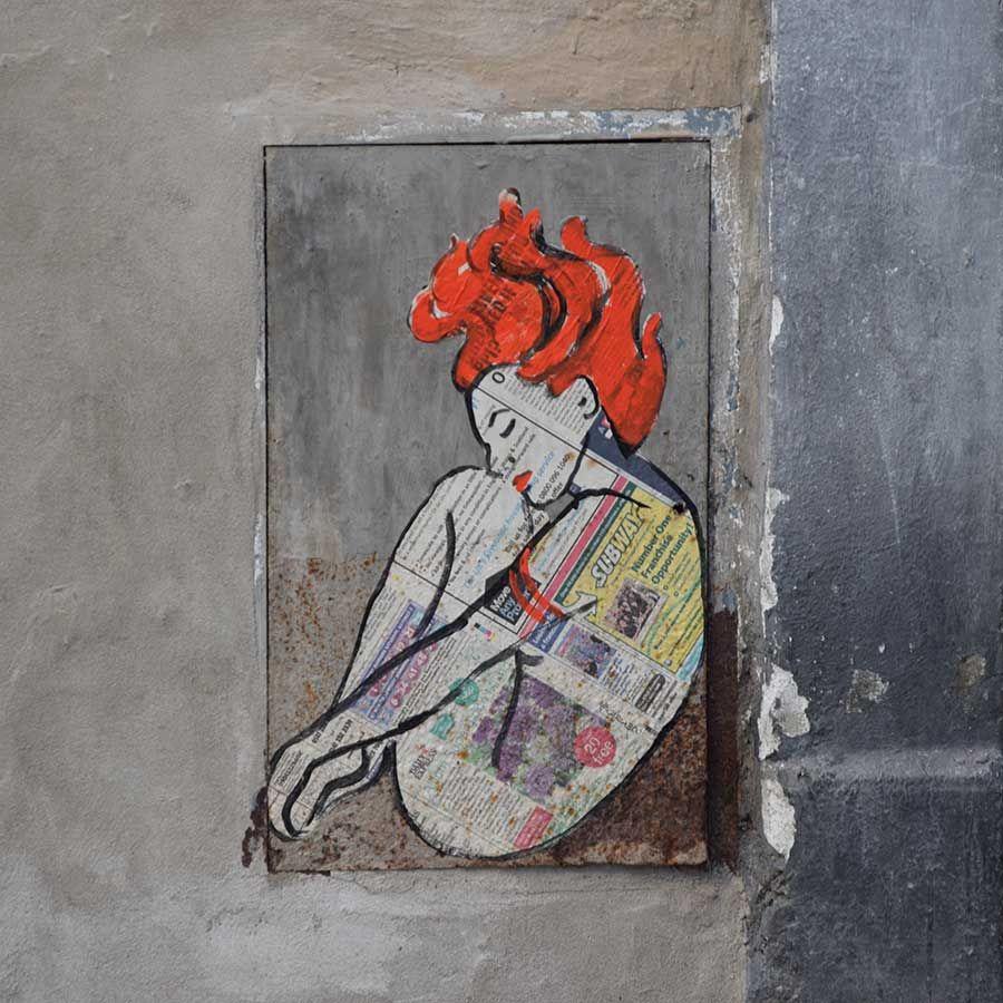 «Шаманка» Карла Бруттини. Street Art Флоренция