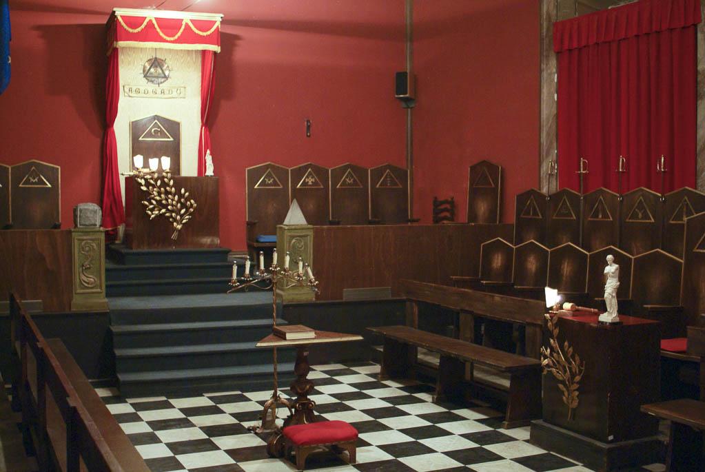 Зал заседаний Великой масонской ложи. Овёс — символ стремления к совершенству.