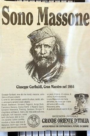 В 1864 году Великим Мастером был Джузеппе Гарибальди